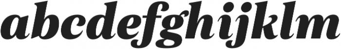 Morison Extrabold Italic otf (700) Font LOWERCASE