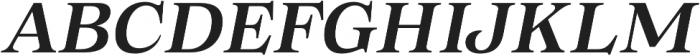 Morison Semibold Italic otf (600) Font UPPERCASE