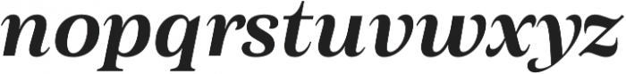 Morison Semibold Italic otf (600) Font LOWERCASE