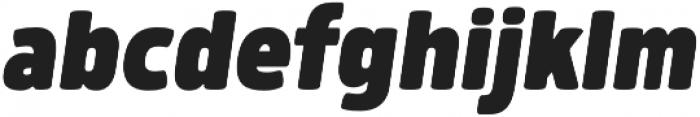 Morl Black Italic otf (900) Font LOWERCASE