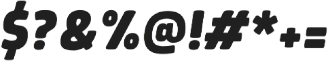 Morl ExtraBold Italic otf (700) Font OTHER CHARS