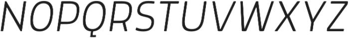 Morl ExtraLight Italic otf (200) Font UPPERCASE