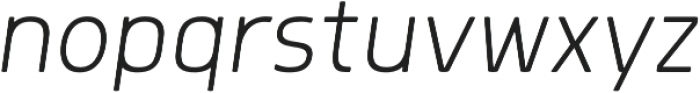 Morl ExtraLight Italic otf (200) Font LOWERCASE