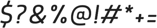 Morl Light Italic otf (300) Font OTHER CHARS