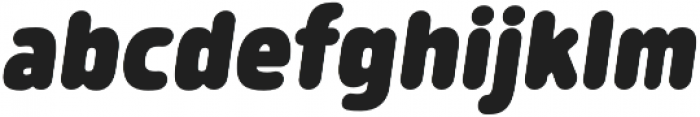Morl Rounded Black Italic otf (900) Font LOWERCASE