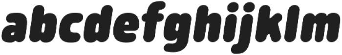 Morl Rounded ExtraBlack Italic otf (900) Font LOWERCASE