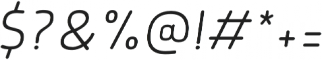 Morl Rounded ExtraLight Italic otf (200) Font OTHER CHARS