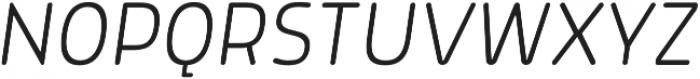 Morl Rounded ExtraLight Italic otf (200) Font UPPERCASE