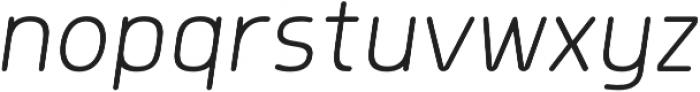 Morl Rounded ExtraLight Italic otf (200) Font LOWERCASE