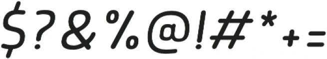 Morl Rounded Light Italic otf (300) Font OTHER CHARS