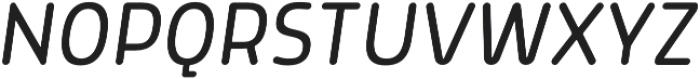 Morl Rounded Light Italic otf (300) Font UPPERCASE