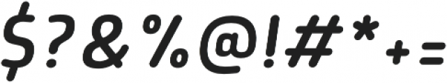Morl Rounded SemiLight Italic otf (300) Font OTHER CHARS