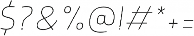 Morl Rounded Thin Italic otf (100) Font OTHER CHARS
