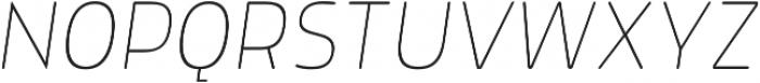 Morl Rounded Thin Italic otf (100) Font UPPERCASE