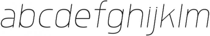 Morl Rounded Thin Italic otf (100) Font LOWERCASE