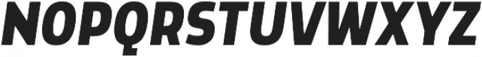 Morl Sans Bold Italic otf (700) Font UPPERCASE