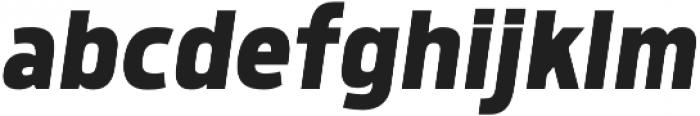 Morl Sans Bold Italic otf (700) Font LOWERCASE