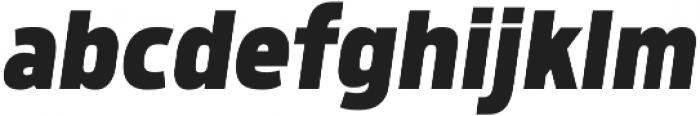 Morl Sans ExtraBold Italic otf (700) Font LOWERCASE