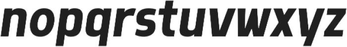 Morl Sans Medium Italic otf (500) Font LOWERCASE
