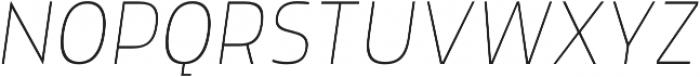 Morl Sans Thin Italic otf (100) Font UPPERCASE