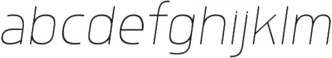 Morl Sans Thin Italic otf (100) Font LOWERCASE