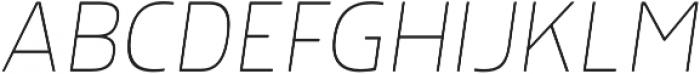 Morl Thin Italic otf (100) Font UPPERCASE