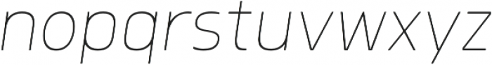 Morl Thin Italic otf (100) Font LOWERCASE