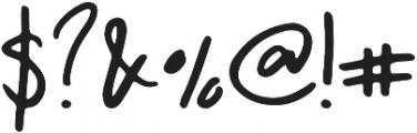 Morning Regular otf (400) Font OTHER CHARS