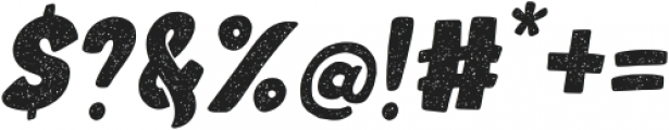 Moro Baby Bold-Rough-Italic otf (700) Font OTHER CHARS