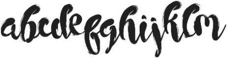 Morracle ttf (400) Font LOWERCASE