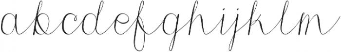 Morri Belle Script otf (400) Font LOWERCASE