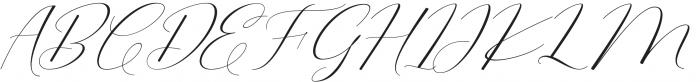 Morris Script otf (400) Font UPPERCASE