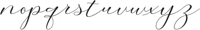 Morris Script otf (400) Font LOWERCASE