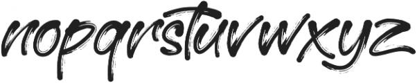 Morrissey otf (400) Font LOWERCASE