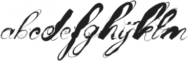 Mosh3 Regular ttf (400) Font LOWERCASE