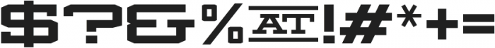 Mosler Safe otf (400) Font OTHER CHARS