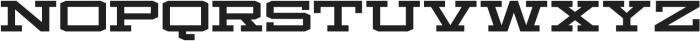 Mosler Safe otf (400) Font UPPERCASE