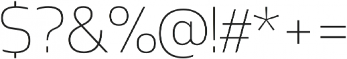 Mosse Extra Light otf (200) Font OTHER CHARS
