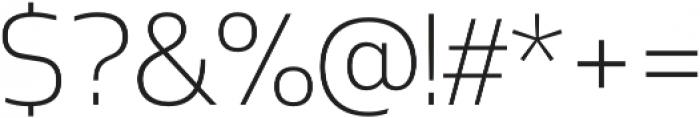 Mosse Light otf (300) Font OTHER CHARS