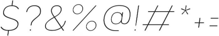 Motiraw Alt Thin Italic otf (100) Font OTHER CHARS