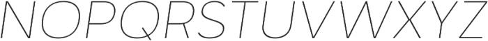 Motiraw Alt Thin Italic otf (100) Font UPPERCASE