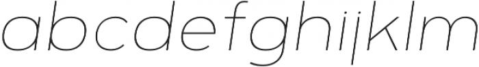 Motiraw Alt Thin Italic otf (100) Font LOWERCASE
