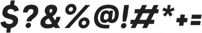 Motiraw Bold Italic otf (700) Font OTHER CHARS