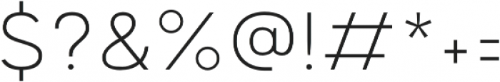 Motiraw ExtraLight otf (200) Font OTHER CHARS