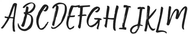 Motisan Brush Regular otf (400) Font UPPERCASE