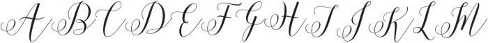 Motisan Script Regular otf (400) Font UPPERCASE