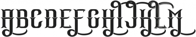MotoGang Regular otf (400) Font UPPERCASE