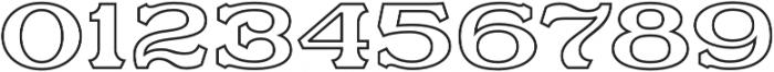 Motor City V3 Outline otf (400) Font OTHER CHARS