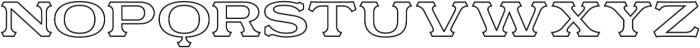 Motor City V3 Outline otf (400) Font UPPERCASE