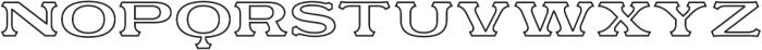 Motor City V3 Outline otf (400) Font LOWERCASE